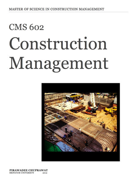 CMS 602 Construction Management