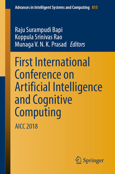 First International Conference on Artificial Intel...