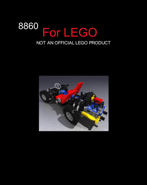 LEGO 8860 Car chassis building instruction