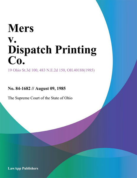 Mers v. Dispatch Printing Co.