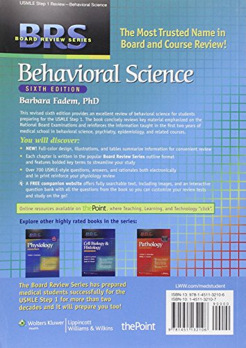 BRS Behavioral Science (Board Review Series)