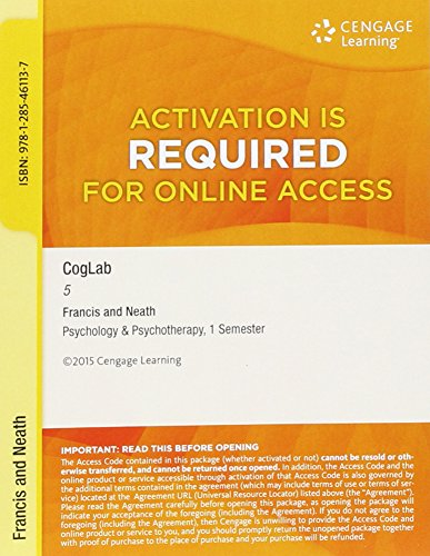Bundle: Cognitive Psychology: Connecting Mind, Research and Everyday Experience, Loose-Leaf Version, 4th + COGLAB 5, 1 term (6 months) Printed Access Card