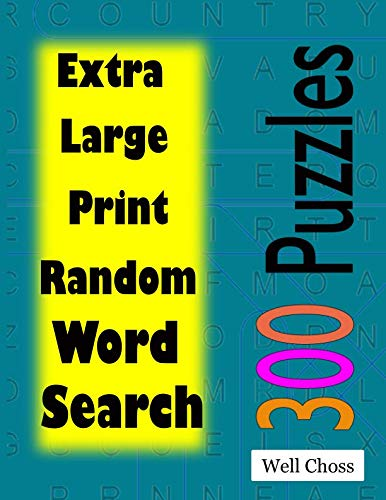 Extra Large Print Random Word Search: Big Font Find a Word for Adults & Seniors
