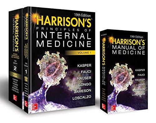 Harrison's Principles of Internal Medicine 19th Edition and Harrison's Manual of Medicine 19th Edition VAL PAK
