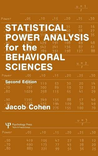 Statistical Power Analysis for the Behavioral Sciences (2nd Edition)