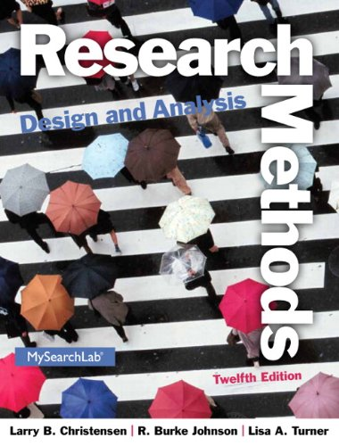 Research Methods, Design, and Analysis (12th Edition)