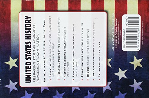 United States History: Preparing for the Advanced Placement Examination, 2018 Ed...