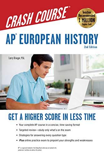 AP® European History Crash Course, 2nd Ed.,  Book + Online (Advanced Placement (...